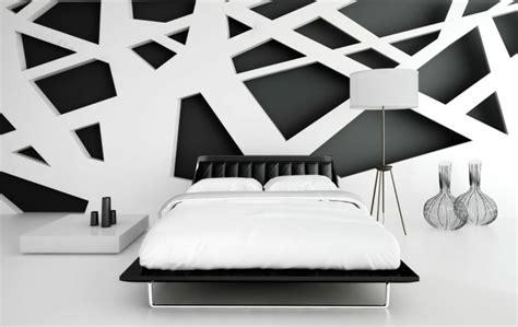 comment tapisser une chambre déco noir et blanc chambre à coucher 25 exemples élégants