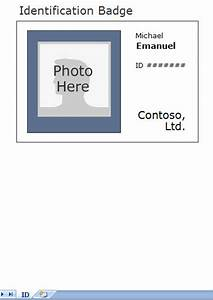 photo identification card template employee id card With photographer id card template