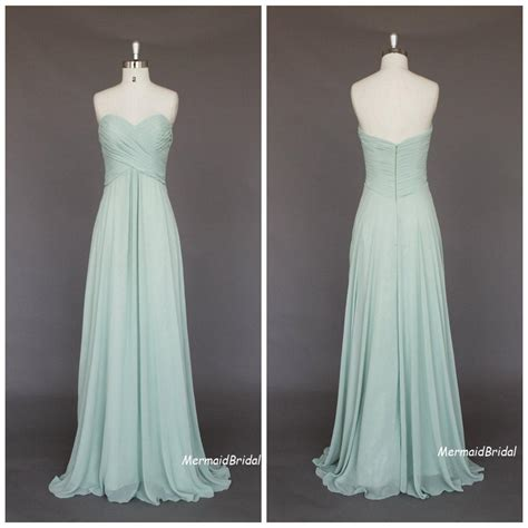 sage cheap long bridesmaid dresses sweetheart empire full