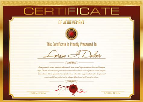 golden frame certificate template vector  vector cover