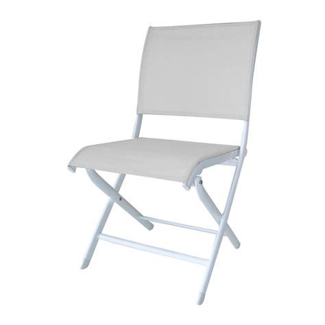 chaise de jardin blanche chaises de jardin alu textilène blanche elegance proloisirs
