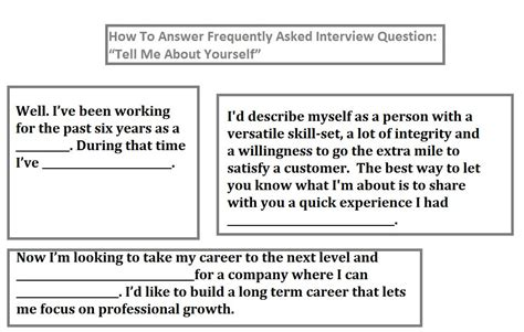 top 10 ways to answer frequently asked interview question tell me about yourself