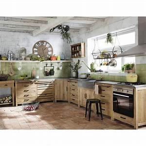 les 25 meilleures idees de la categorie cuisine angle sur With meuble de cuisine maison du monde 0 meuble bas de cuisine avec evier en manguier blanc l 140