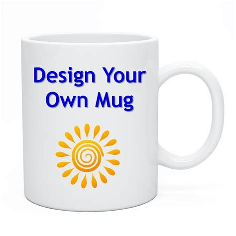 Design Your Own Mug   With Our Easy Photo Upload