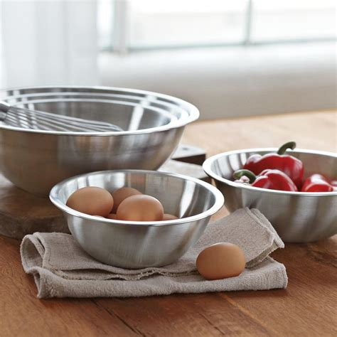 stainless steel restaurant mixing bowls set   williams sonoma au