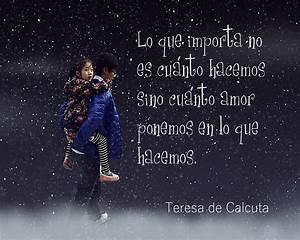 Lecciones para amar: Frase célebre de Teresa de Calcuta