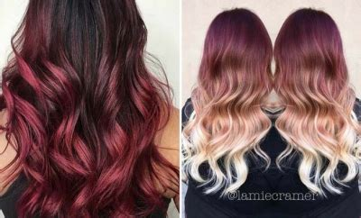 red ombre hair color ideas stayglam