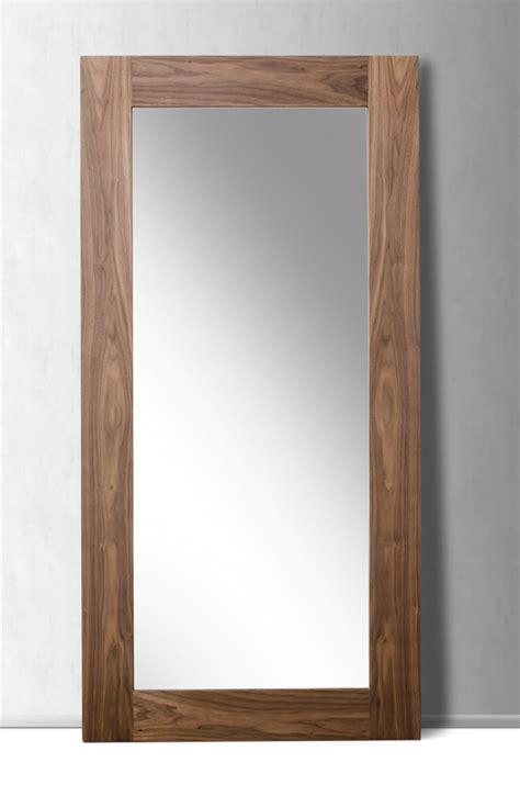 floor mirror modern modrest beth modern walnut floor mirror mirrors bedroom