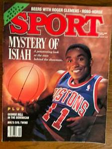 Sport Magazine Mystery Of Isiah  U0026 Roger Clemens May 1988