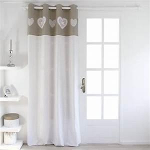 Rideau Voilage Lin : rideau et voilage rideaux rideaux occultant voilage eminza ~ Teatrodelosmanantiales.com Idées de Décoration