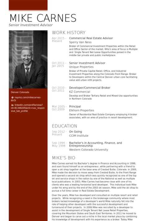Commercial Real Estate Resume Template by Real Estate Resume Sles Visualcv Resume Sles Database