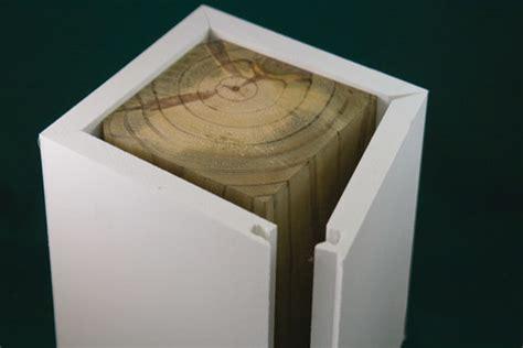 vinyl wood siding kleersnap pvc post wrap available at kuiken brothers