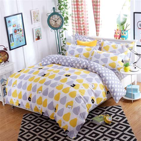 New Lemon Bedding Set Polyester Bed Sheets Duvet Cover