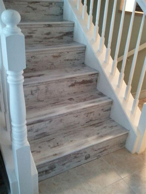 vinyl plank flooring stairs what a beautiful look at a very affordable price perfect