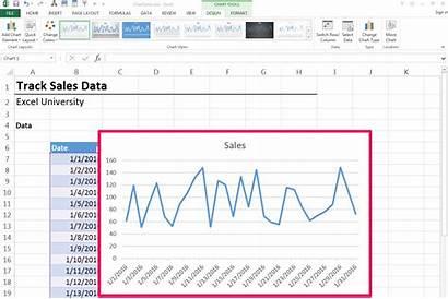 Chart Sales Excel Daily Step Line Worksheet