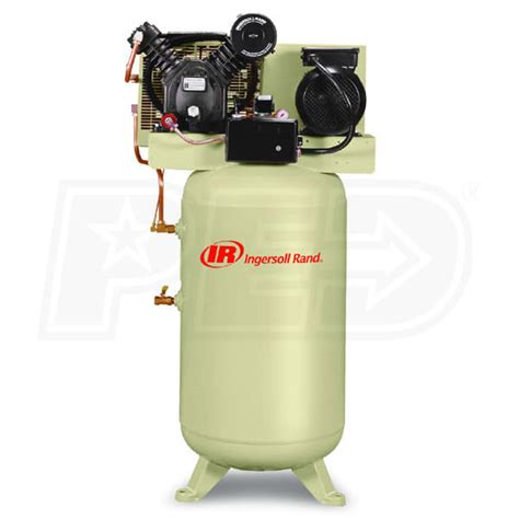 ingersoll rand air conditioner ingersoll rand 7 5 hp 80 gallon two stage air compressor 460v 3 phase fully packaged