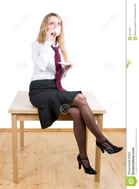 woman sitting   table royalty  stock images