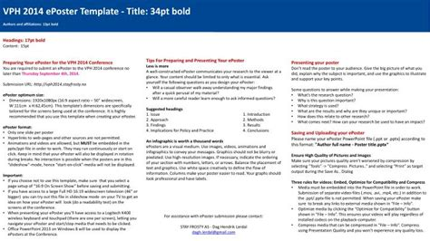 ppt vph 2014 eposter template title 34pt bold authors and affiliations 13pt bold