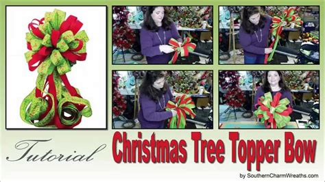 how to make a large tree topper bow how to make a tree topper bow