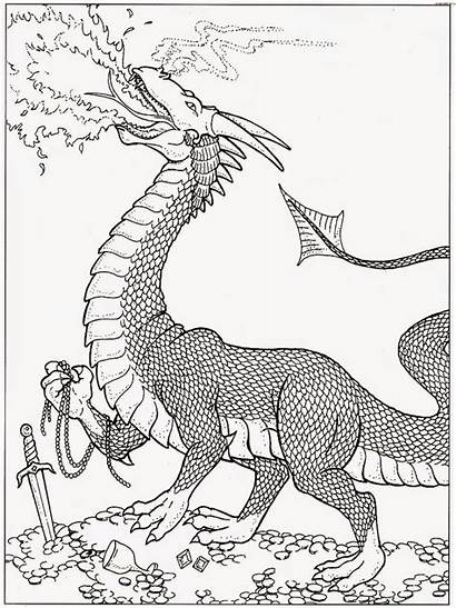 Dragon Coloring Pages Fire Dragons Wings Printable