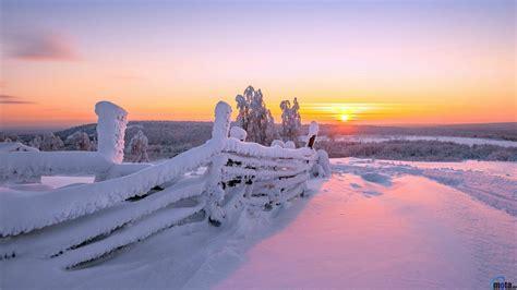 Winter Sunrise Desktop Wallpaper