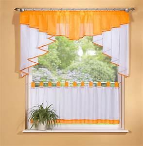 Gardinen Set Küche : scheiben gardinen set 2 tlg orange ebay ~ Orissabook.com Haus und Dekorationen