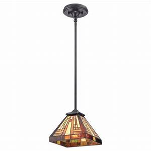 Small tiffany hanging ceiling pendant light with deco art