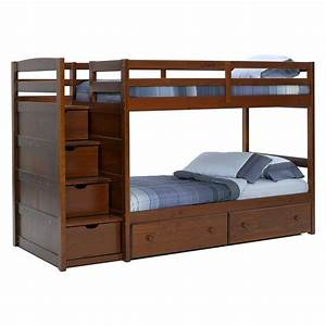 Twin Bunk Beds With Stairs White Bunk Beds With Stairs ...