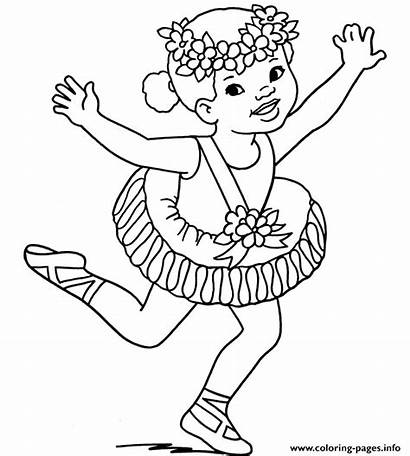 Coloring Pages Halloween Costume Printable Ballerine Bailarina