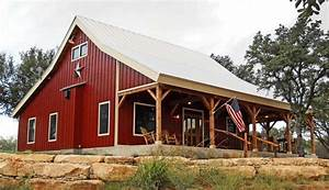 country barn home kit w open porch 9 pictures metal With 2 story steel building kits