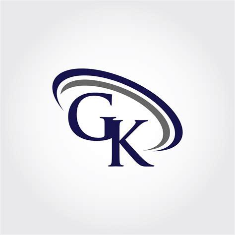 monogram gk logo design  vectorseller thehungryjpegcom