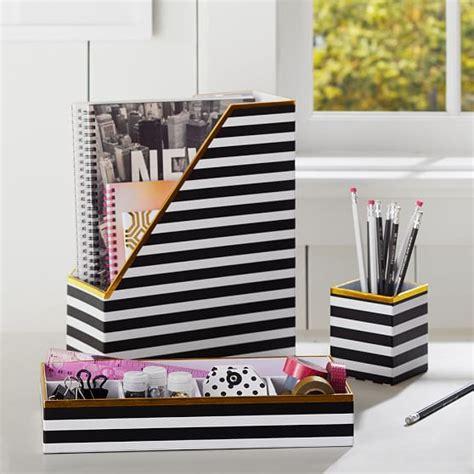 black and gold desk accessories printed desk accessories black white stripe with gold