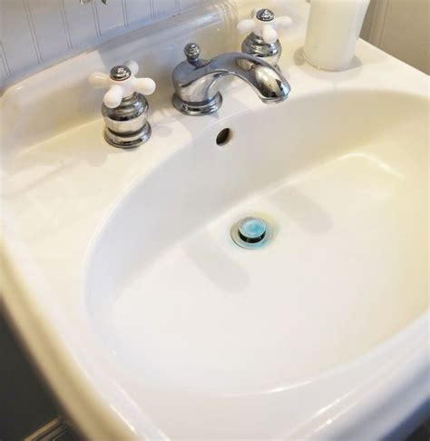fix in porcelain sink how to remove hard water stains from a porcelain sink