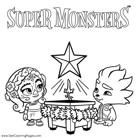 Super Monsters Award to Color Get Coloring Pages