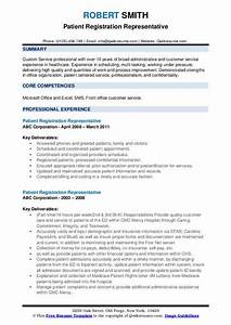Computer Skills On Resume Example Patient Registration Representative Resume Samples