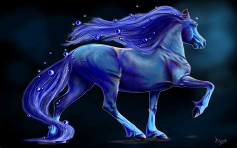blue fantasy bubble horse  nalina wallpaper hd