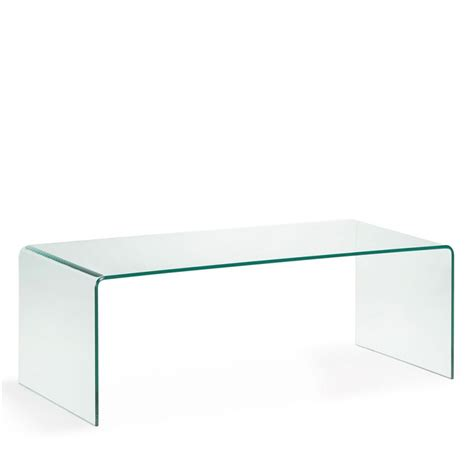table basse en verre tremp 233 transparent burano par drawer fr