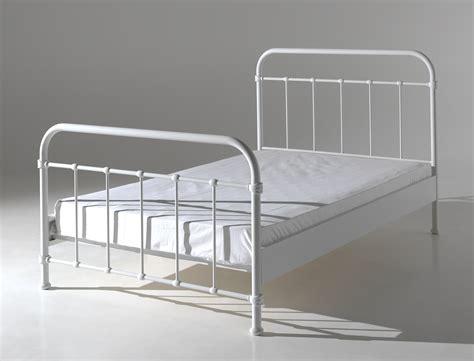 plaid noir canapé lit en métal pour un style industriel de 120 x 200