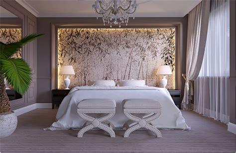 papier peint chambre à coucher adulte idée chambre adulte aménagement et décoration design