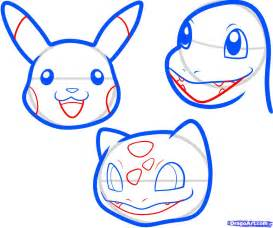 draw pokemon easy step  step pokemon characters