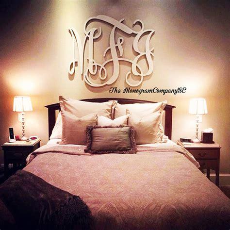 wooden monogram wall hanging initials photo prop graduation gift wedding nursery bedroom dorm