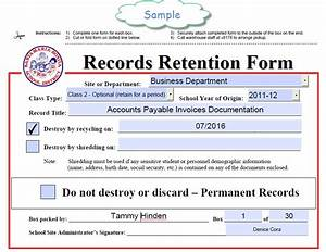 forms records retention transfer and library transfer With document library record