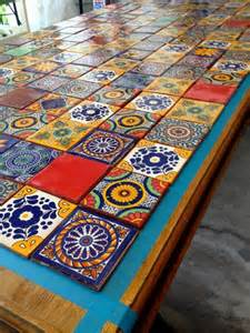 mexican tiled table for the home