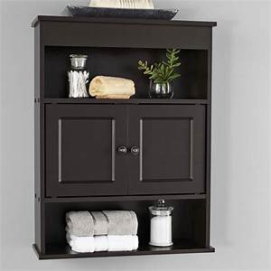 Mainstays, Bathroom, Wall, Mounted, Storage, Cabinet, With, 2, Shelves, Espresso, -, Walmart, Com
