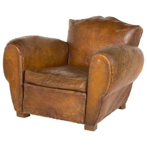 antique leather chair vintage leather club chair at 1stdibs 1287