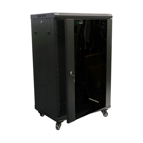 glass door server cabinet 18u wall mount network server cabinet rack enclosure glass