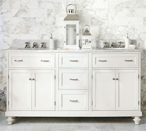 custom classic double sink vanity  doors storage