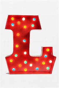 marquee alphabet light from urban outfitters evolution With letter l light