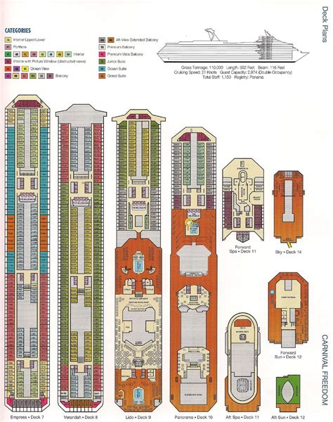 carnival cruise floor plan carnival freedom deck plans caribbean cruise carnival freedom carnival and cruises