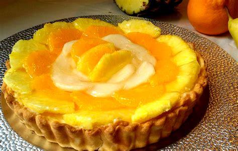 Tarta De Fruta Con Crema Pastelera